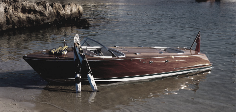 Brown boat on shore